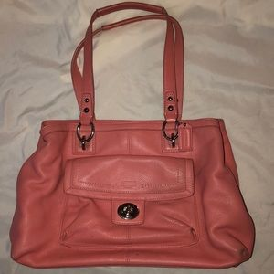 COACH peachy pink leather PURSE